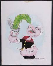 "Myron Waldman Signed ""Popeye"" original drawing"