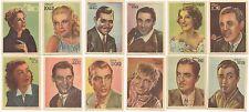 Año 1940. Colección artistas de cine. Completa serie 1ª  de 12 cromos.