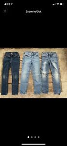 Justice Jeans Size 7 Slim - 3 Pair Of Jeans