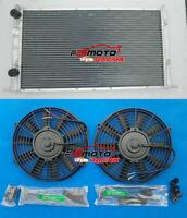 2 ROW Aluminum Radiator + FAN for Volkswagen VW Golf MK3 GTI VR6 1994-1998 MT