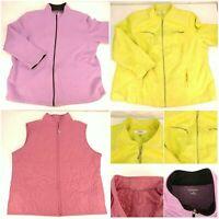 Lot 3 Women's 2X 20W Jacket Blazer Vest Mixed Styles Color Plus Size Purple Pink