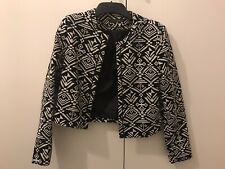 LADIES AZTEC CROPPED JACKET SIZE 10