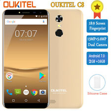 5.5'' OUKITEL C8 Handy QuadCore 1.3GHz 2GB+16GB 3G Android7.0