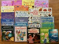 Lot 21 Usborne Books Internet-Linked Science Spanish Things to Make Stickers Kid