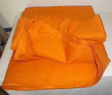 Tissu orange ameublement REPS STARKISS GRAND TEINT de chez SOMLYS de 1973 TTBE