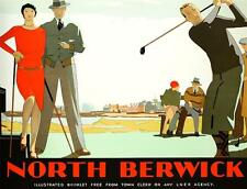 North Berwick Golf Course Poster Fine Art Lithograph Hand Pulled Andrew Johnson
