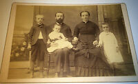 Antique Victorian American Family Fashion Group Portrait! Kids! Cabinet Photo!
