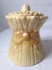 House of Webster Staff of Life Wheat Shock Cookie Jar Canister Vintage Sheaf
