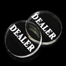 Transparent DEALER Button 58mm Diameter Super Cool Poker Game Fancy Acrylic Gift
