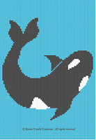 Crochet Patterns - WHALE ORCA Graph Afghan Pattern **EASY/BEGINNER***