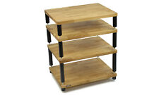Apollo Storm 6 - Hi-Fi Stand (4 Shelf) (Satin Black & Oak)