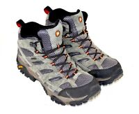 Merrell Mens Size 11 Boots Moab 2 Mid Waterproof Gray Black Hiking Boots J06053