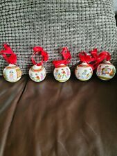 More details for gorgeous royal doulton christmas tree baubles