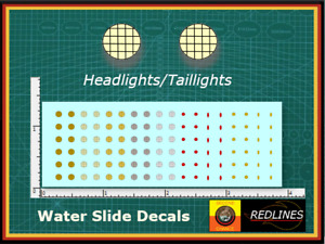 1/64 'Head Lights  & Tail Lights'' Assorted Decal SCR-0089
