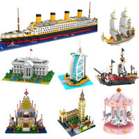 DIY Famous World Diamond Buildings Blocks Ships Castle house Kids EDC Toys