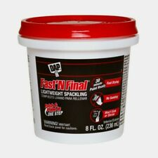 Dap FAST 'N FINAL 8 oz. Ready to Use White Lightweight SPACKLING COMPOUND 12140