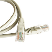 20M (65.6ft) Grey Ethernet Cable Cat5e RJ45 Network Lan Patch Lead 100% Copper