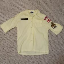 Women's Vintage Official Den Mother Yellow Cub Scout Shirt W/ Patches