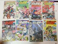 Lot of 8 X G.I. Joe Random Marvel age, A Real american Hero Free Shipping
