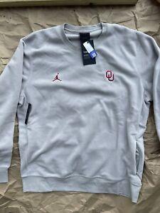 Nike Jordan Therma Fleece Oklahoma Sooners Pullover Crew Size XL AQ8995-052