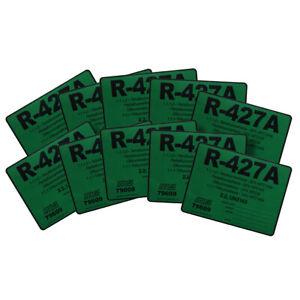 Pack of (10) - R-427A R427A HFC134a HFC125 HFC32 HFC143a Refrigerant Label 79609