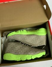 Nike Footscape Dessert Chukka Woven Trainers Grey/Lime Green size uk 7 Mens NEW