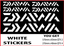 Daiwa Fishing Boat Sticker Decals Set in white