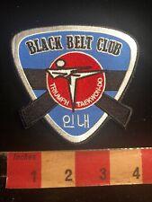 Black Belt Club Triumph Taekwondo Martial Arts Patch 01Rn