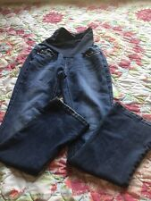 Women's Maternity Indigo Blue High Waist Straight Jeans Size Large
