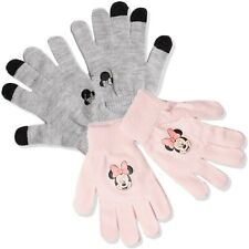 Disney Minnie Mouse Warm Winter Knitted Acrylic Gloves 2 Pairs Sets Hat 2-10 yrs