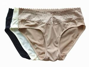 Lot Warner's Mocha No Pinching No Problems Hipster With Lace Panty 5/S 8/XL