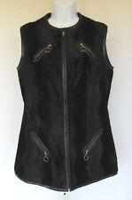 Vintage 1950s 60s Penneys International Imports 14 Black Vest Sleeveless Jacket