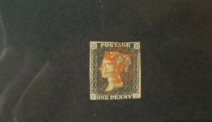 GREAT BRITAIN #1 PENNY BLACK Beautiful Used Issue RED MALTESE CROSS a 170