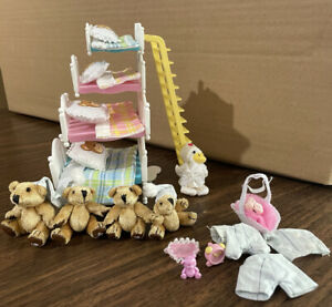 Mattel The Beary Weathers At Bedtime 2004, Family Of 4 Bears!  Furryville Extras