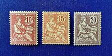 France 1902 *** Type Mouchon *** N°s 124 125 126 *** Neufs Sans Charnière  TTBE