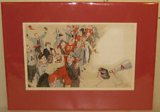 Vintage Frank Bensing COLLEGE FOOTBALL Victory Painting - Listed Illustrator