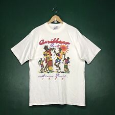 VINTAGE 90s MIAMI CARNIVAL CARIBBEAN T-SHIRT SIZE LARGE