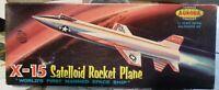 RARE!! VINTAGE [1959] AURORA NORTH AMERICAN X-15 SATELLOID WHITE! + REPRO DECALS