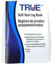True Metrix Self-Test Log Book Diabetes Care Readings, Insulin Doses & Notes New
