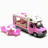 1:32 Ice Cream Fast Food Truck Van Model Car Diecast Toy Vehicle Kids Sound Pink