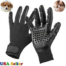 Pet Dog Cat Ninja Grooming Gloves Hair Fur Remover Bathing Shedding Massage Pair