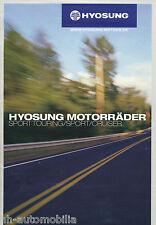 Hyosung Motorräder Prospekt 2004 GT 650 250 125 Aquila Karion XRX GV 650 Korea