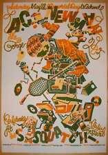 2005 A.C. Newman - Sasquatch! Fest Silkscreen Concert Poster s/n by Guy Burwell