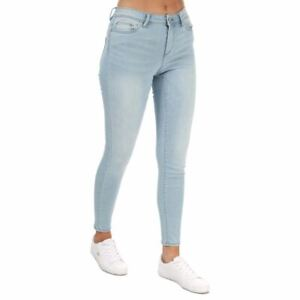 Women's Only Wauw Life Zip Fly Skinny Fit Jeans in Blue