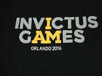 INVICTUS GAMES - ORLANDO 2016 - MEDIUM - BLACK T-SHIRT- B403