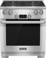 Miele Hr1124G 30 Inch Pro-Style Gas Range 4 M Pro Dual Stacked Sealed Burners