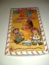 Vintage Raggedy Ann And Andy Sew Ons Colorforms 910C 1974 Bobbs Merrill Activity