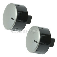2 x BOSCH Genuine Silver Oven Hob Cooker Control Knob Switch Dial & Shaft Spare