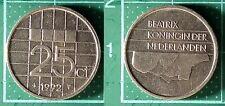 25 Cents Beatrix 1992, Pays-Bas / Nederland, Nickel, Pièce de Monnaie #5