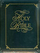 Family Bible-gold embossed black padded cover custom name imprint engraved